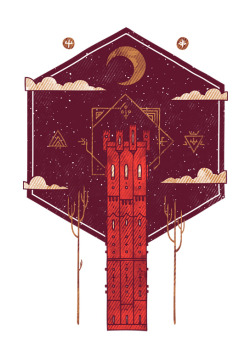 graphiceverywhere:  The Crimson Tower (by againstbound)