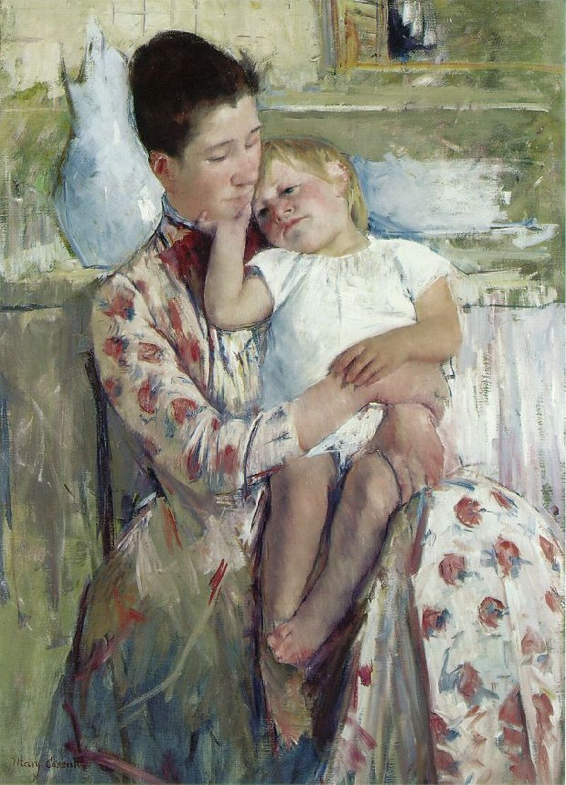 Cassatt, Mary [American Impressionist Painter, 1844-1926]Mother and Child1889Oil on canvas90 x 64.5 cmWichita Art Museum, Kansas
