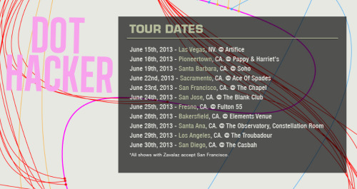 Dot Hacker announce Tour Dates [Schedule]