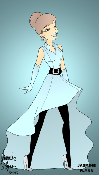 Light Blue Belted Dress. a digital drawing by me, Jasmine Flynn :)