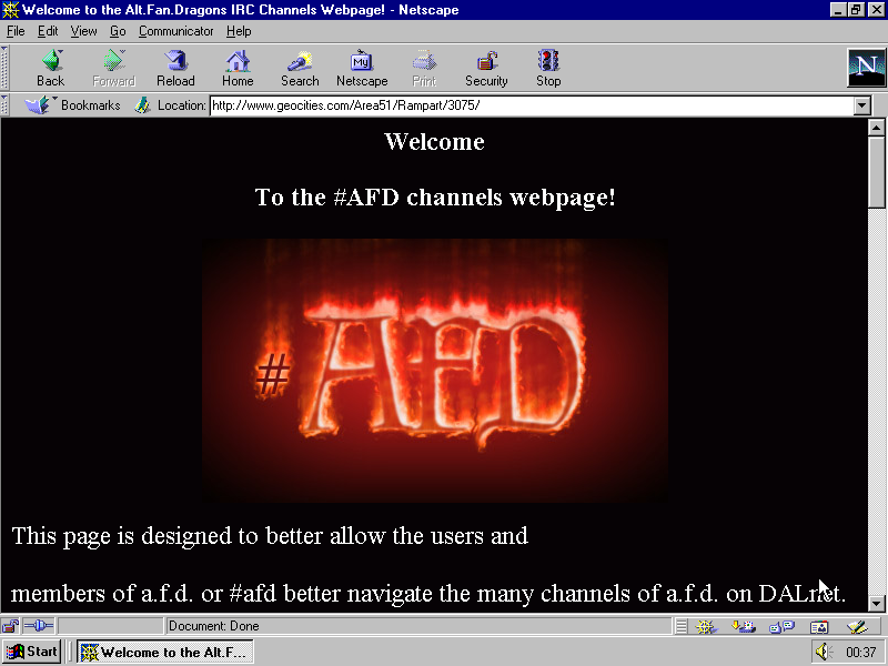 original url http://www.geocities.com/Area51/Rampart/3075/  last modified 1997-10-05 21:39:08
