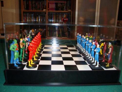shaken-not-stirred-:  DC vs MARVEL chess.