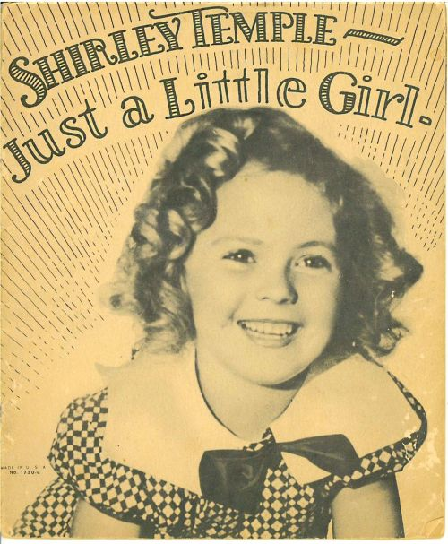 Book cover for Shirley Temple, Just a Little Girl, 1930s.