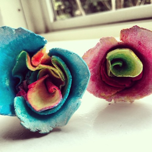 Clay flowers #art #flowers #colourful #sculpture