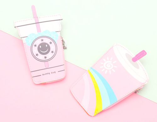 kawaii pink aesthetic coin purse wallet milk tea cute girly pretty shop pastel grunge kfashion korean fashion asian fashion jfashion harajuku