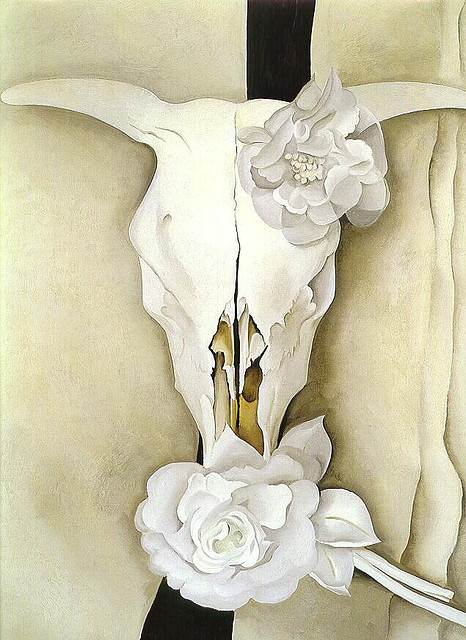 forestfirebeautiful:  Cow's Skull with Calico Roses. Georgia O'Keeffe, 1931. — GOK is a bad bitch.