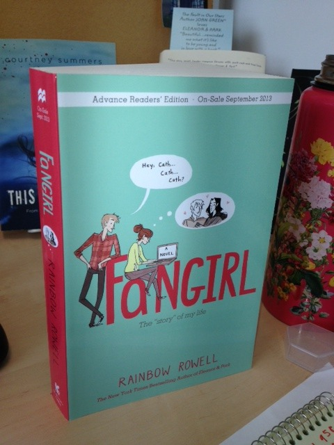 gingerhaze:  rainbowrowell:  Okay, it's not a book — it's an almost-book — but this visual confirmation of Fangirl still made me happy … I even love THE SPINE. The real thing comes out Sept. 10.  You guys you guys I did the cover for this!! proof that there are real-world applications for doofy fanart of two boys touching each other. READ RAINBOW'S BOOKS!