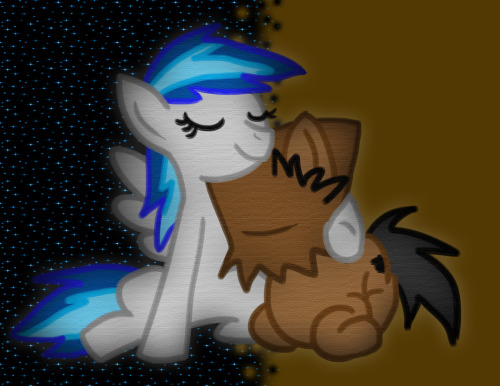me and uglypony <3 please go follow guys! she is really nice and funny! ^u^ we are close friends :3