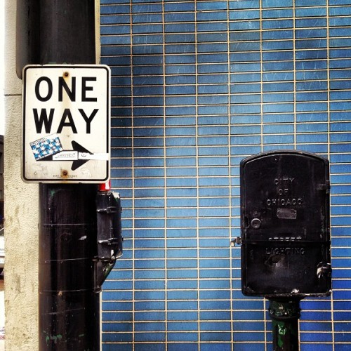 One Way #chicago #latergram #tile