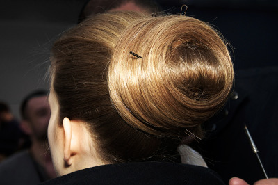 styletrove:  Updo perfection @ Yves Saint Laurent fw10