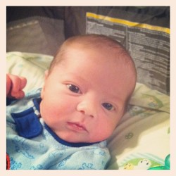 That face!!! #adorable #zackattack #newborn #8daysold #amazing