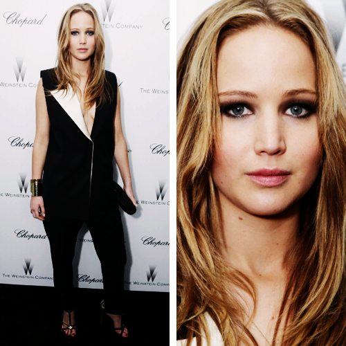 Jennifer Lawrence attends The Weinstein Company Academy Award Party