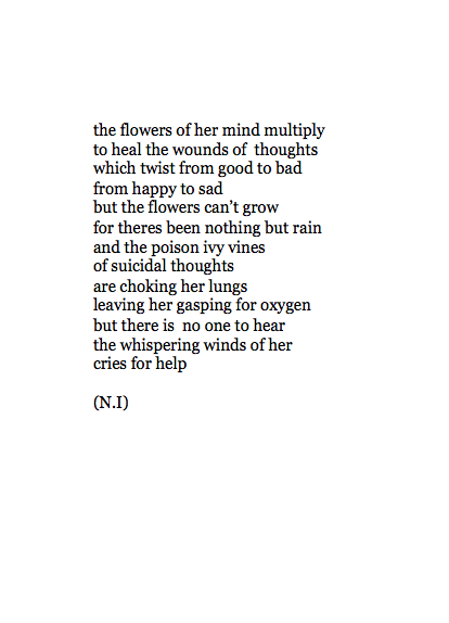 unpoetically:  the flowers of her mind