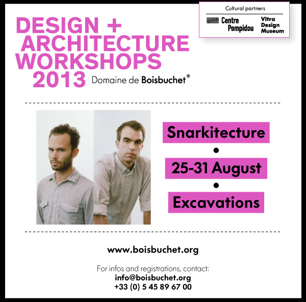 Snarkitecture is leading a workshop at Domaine de Boisbuchet this summer from August 25-31. More information and registration here.