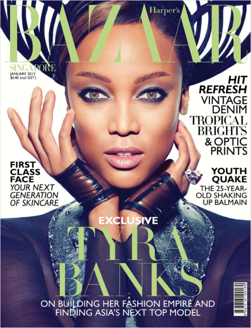 theeverydayitgirl:  Tyra Banks Harper's Bazaar Singapore January 2013