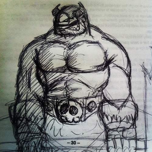 theshaunsnow:  Ballpoint pen sketch of @joverine 's Battle Berserker Balto while on hold with tech support. #art #comic #comics #doodle #doodles #drawing #drawings #illustration #illustrations #sketch #sketches #freelance #instaart #instadraw #instaartist  BOOM! love it when I get some fan art of my Battle Berzerker Balto character! Thanks Shaun! :)