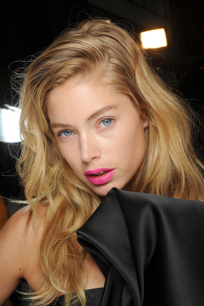Doutzen Kroes backstage at Giles Spring 2013