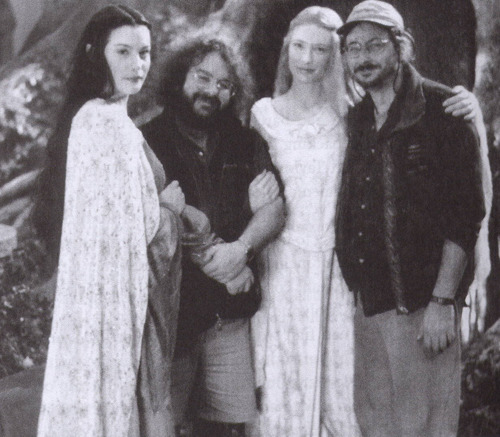 On the set of a deleted Arwen & Galadriel scene