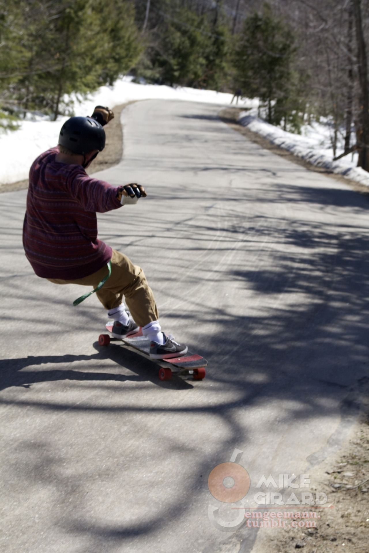 Gangster Lean. NH. Jordan Billingsley keeps it stylish on his beautiful local run. Photo by me. -MG