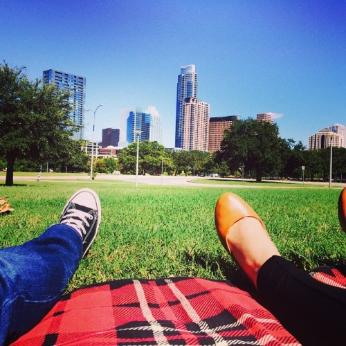 I love you Austin! #beautifulday #perfectweather #austin #park #love #beauty #city