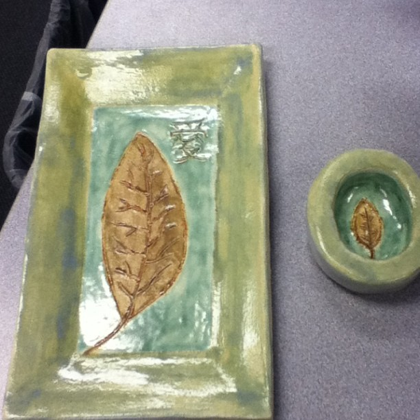 Sushi set I made in ceramics :D
