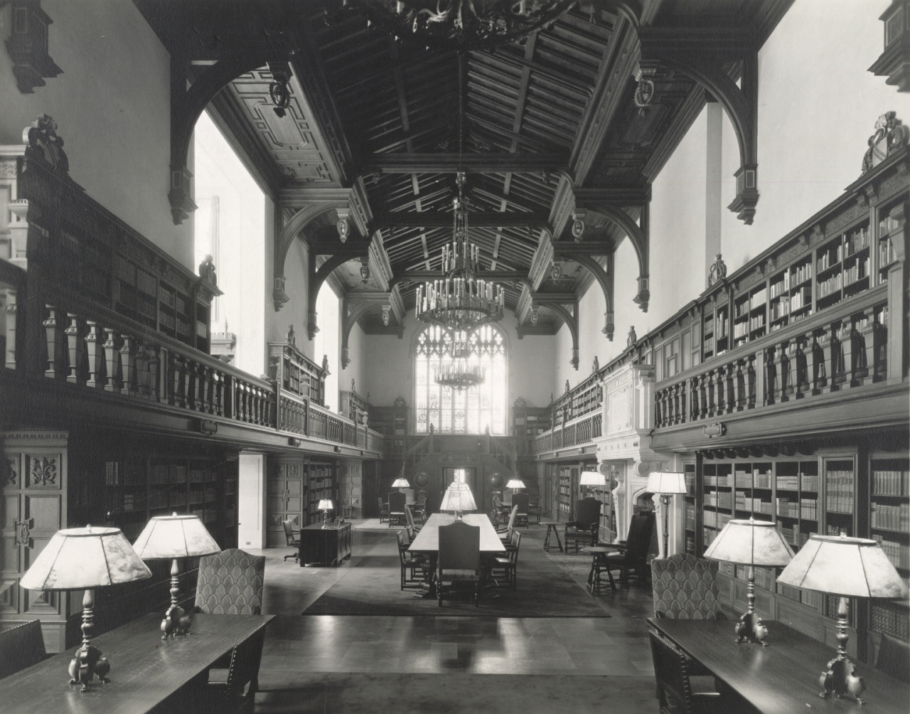 vintagelibraries:  Interior, Folger Shakespeare Library, ca. 1932-ca. 1950