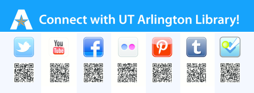 Like the UTA Library's Tumblr? You'll LOVE our Twitter, Facebook, Pinterest, Flickr, Foursquare, YouTube!