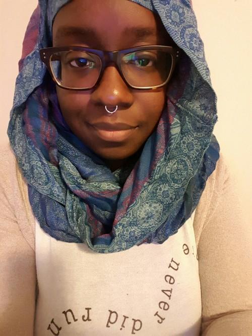 bombblackhijabis muslim imblackandimproud flexin my complexion unfairandlovely