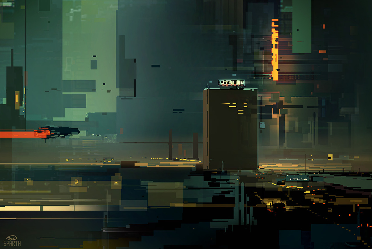 sparth:  scenery in squares. from Structura II