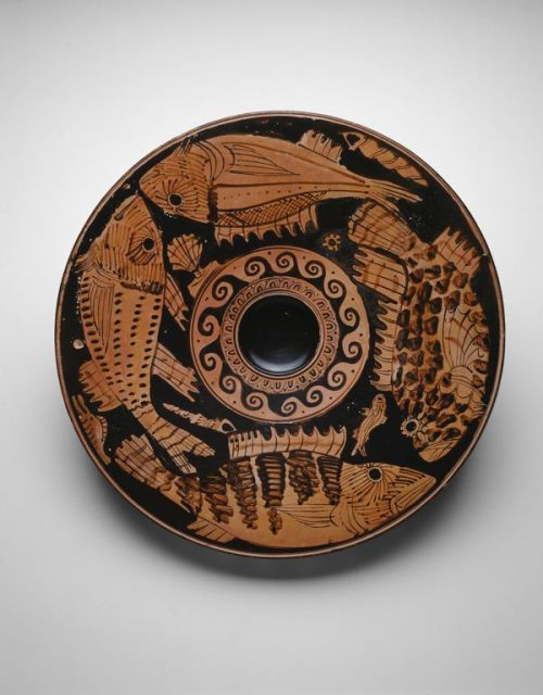 Greek, Athens Fish Plate, 400–350 B.C. Terracotta, red-figure technique5.1 x 34 x 34 cm (2 x 13 3/8 x 13 3/8 in.) Source: Art Institute Chicago