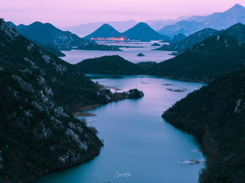 lake skadar liqeni i shkodres montenegro albania mountains sunset blue hour february 2018 burimmuqa photography
