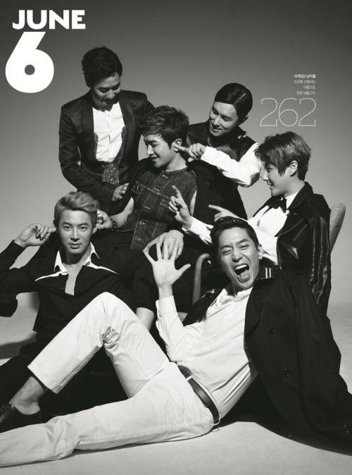 morning:  Shinhwa for GQ Korea. :)Leadernim's hairstyle in This Love MV is now on Oppayam's head. LOL