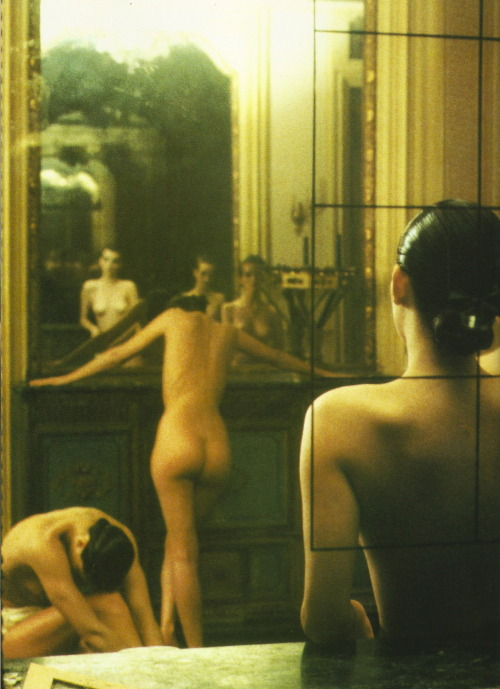 ghesquiereous:  'Five Girls in a Room in Pigalle, Paris' Deborah Turbeville for Vogue Italia, 1982