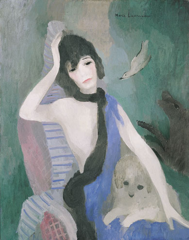 Portrait of Mademoiselle Chanel by Marie Laurencin, 1923