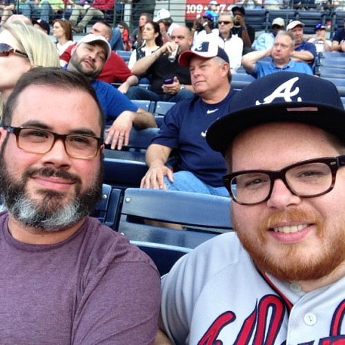uncooljohn:  Go Braves! (at Turner Field)  Me and my boof
