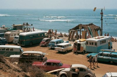 fancydancynancy:  quirky-fairy:      Sixties surfing beach scene photographed by LeRoy Grannis     ❤ Vintage Wonderland ❤