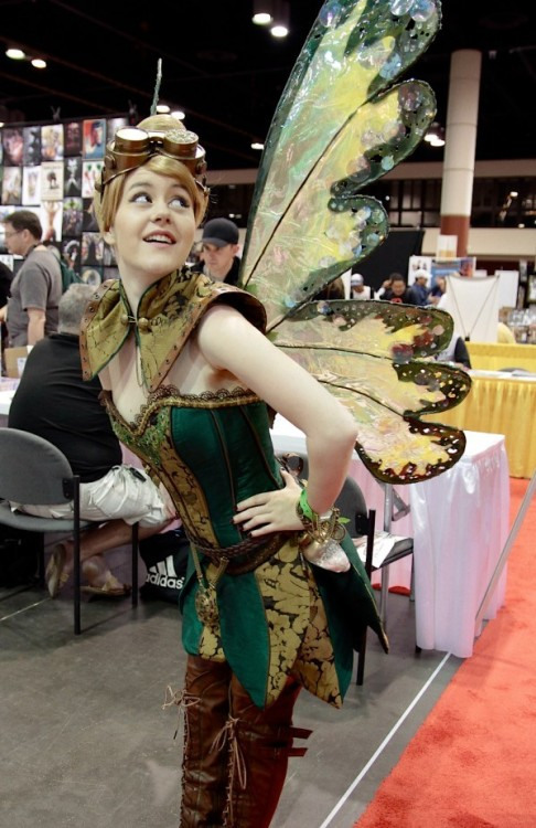 larpers-are-sexy:  Steampunk Tinkerbell cosplay created by Firefly Path.  Damn… that's a Tink…