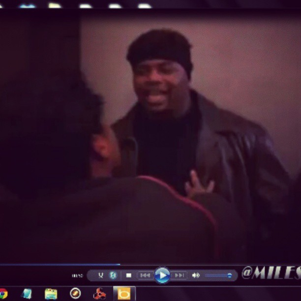 "This is a screen shot from my latest video ""Dont F**k With The Dealer"" if anybody can guess the movie I will drop it!!! #MILESHIGH"