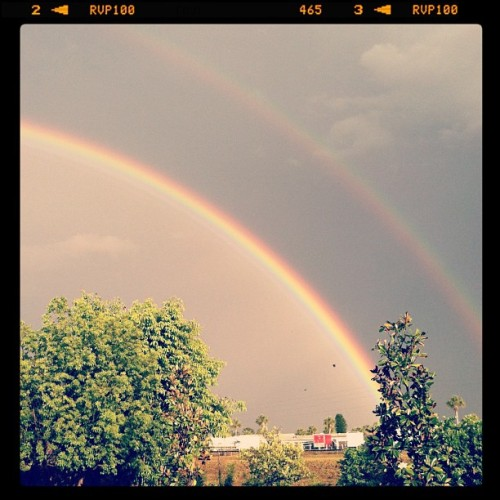 Double rainbow, what does this mean #rainbow #storm #beautiful