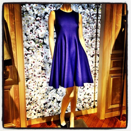 If You're Feeling Blue… Get this #Dior fit & flare shift dress @Bergdorfs ~ #fashion (at Bergdorf Goodman)
