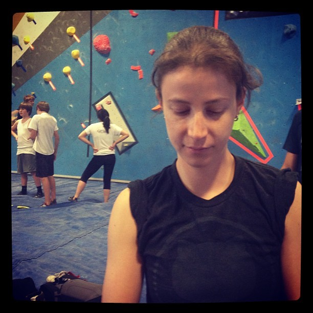 Focused. #tbs8  (at Dogpatch Boulders)