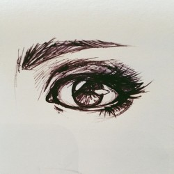 Eye practice at work. #art #myart #practice #sketch #pen #ink #vscocam