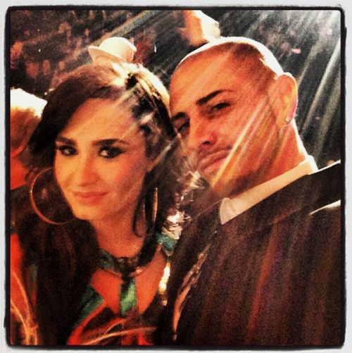 Demi and Brian Friedman yesterday