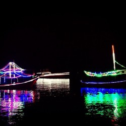 Glowing #boats (at Ancol Beach City)