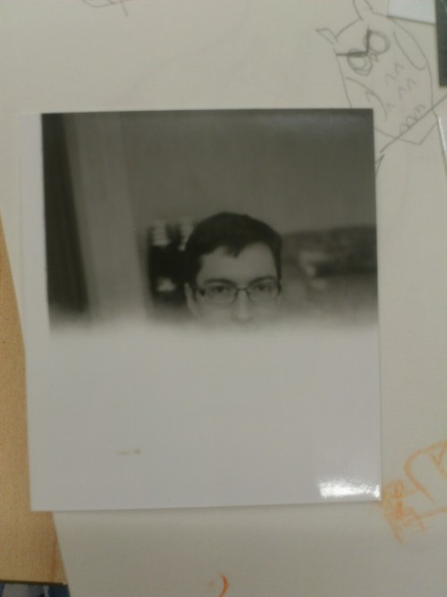 obliviousham:  So I developed my picture of Andrew Hussie that got cut off  Oh gosh, traditional photography can be such a bitch, but I love it so much