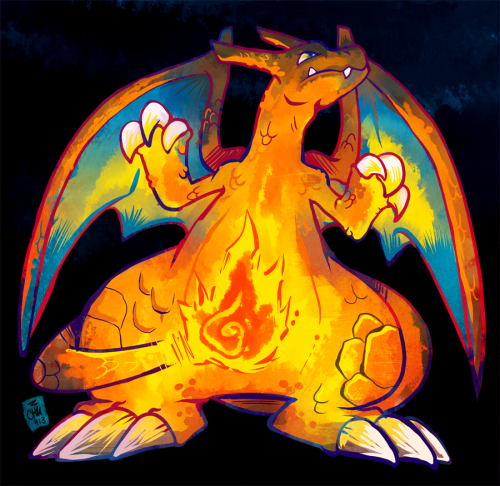 chunochousen:  006 Charizard I doodle Charizard often enough that when it was time to draw it for this challenge, it took a couple tries to get it to look right. If that makes any sense. raizy@deviantArt