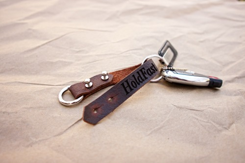 The Bullnose Keyloop. Perfect for hanging your keys on your belt, or spinning them on your finger like a cowboy spinning his guns.  More Info here