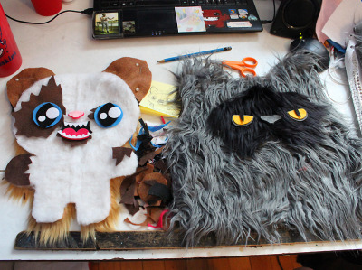 Working on two custom kitties meow meow meow