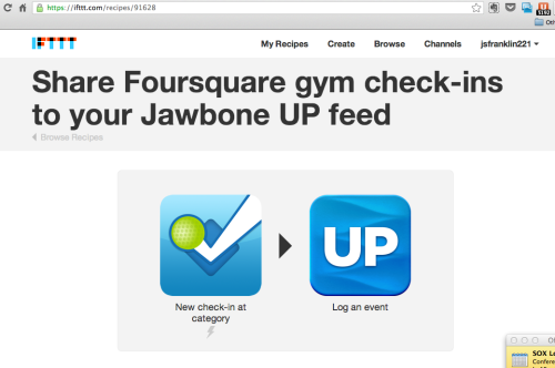 @ifttt + @Jawbone + @Foursquare = making life easier & better