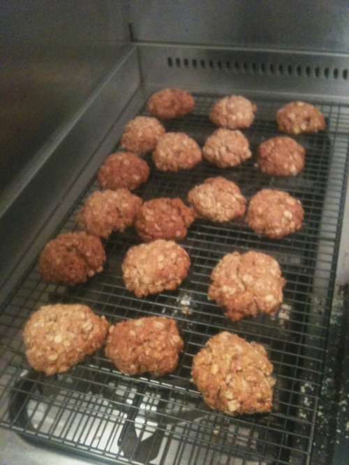 And finally, Anzac biscuits baked before bed.